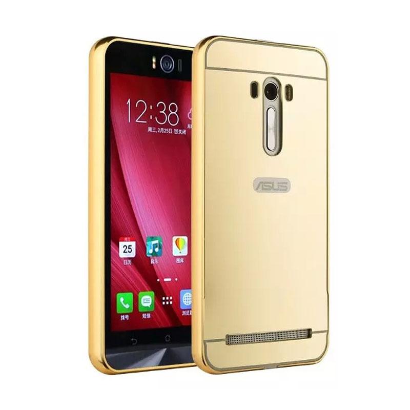 harga Case Bumper Metal Back Case Sliding Casing for Asus Zenfone 2 ZE551ML 5.5 Inch - Gold Blibli.com