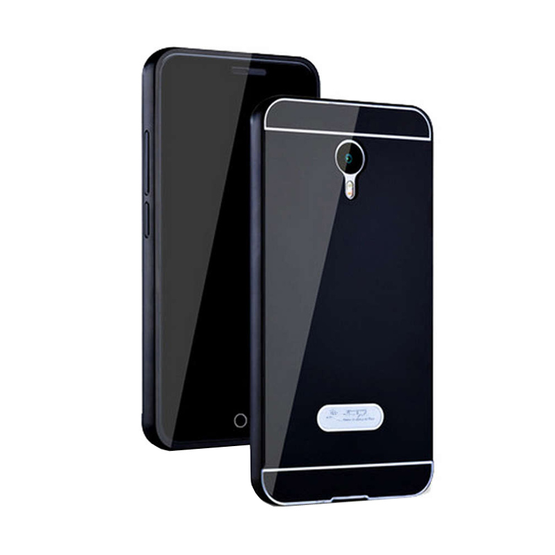 Jual Case Bumper Metal Sliding Backcase Casing for Meizu M2 Note Black Online .