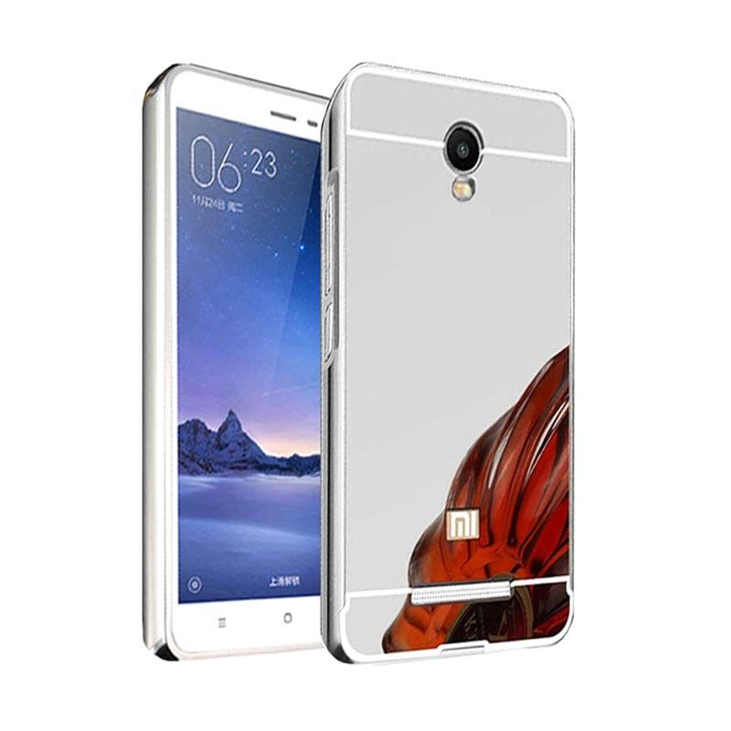 Case Bumper Metal Sliding Backcase Casing for Xiaomi Redmi Note 3 Pro - Silver