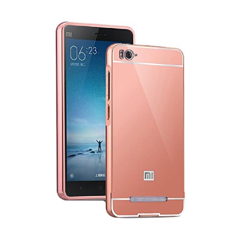 harga Case Bumper Mirror Casing for Xiaomi Redmi Mi4i - Pink / Rose Gold Blibli.com