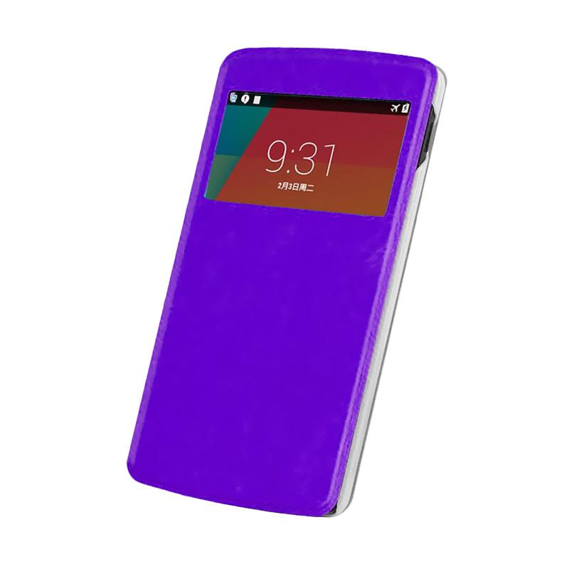 Case Flip Cover Casing for Samsung Galaxy A3  - Ungu