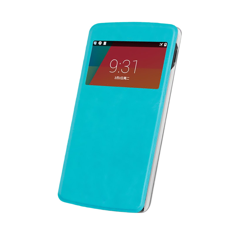 Case Flip Cover Casing for Samsung Galaxy A8 - Blue sea