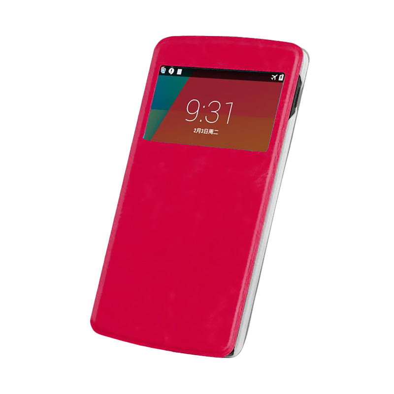 Case Flip Cover Casing for Samsung Galaxy A8 - Magenta