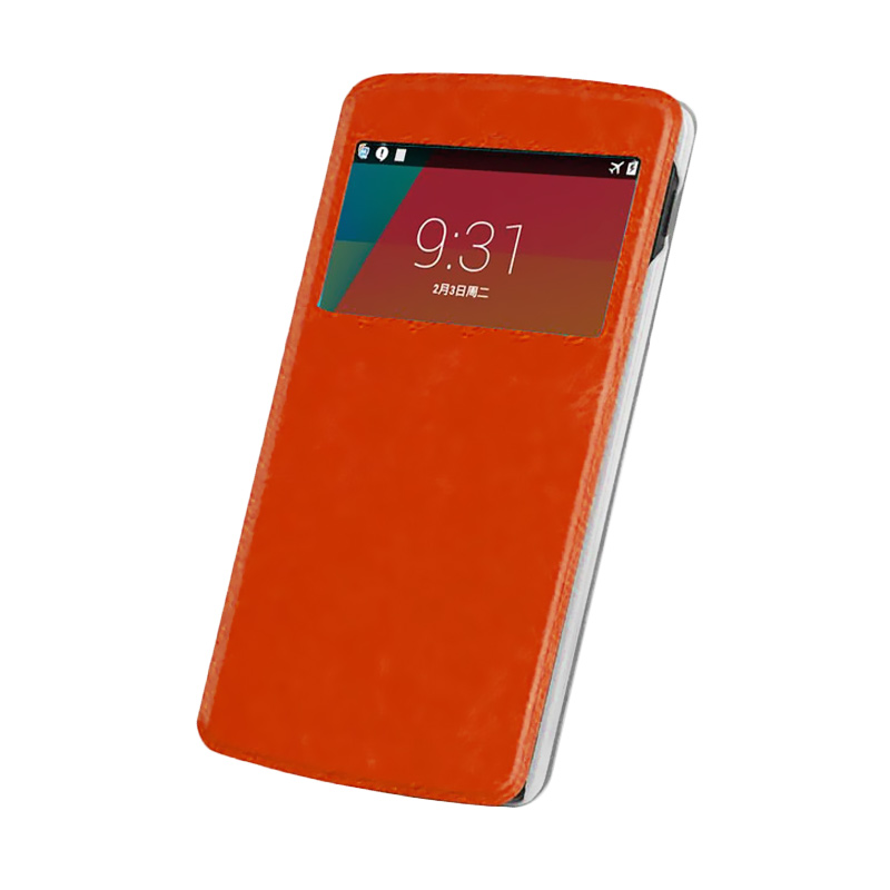 Case Flip Cover For Samsung Galaxy A5 - Brown