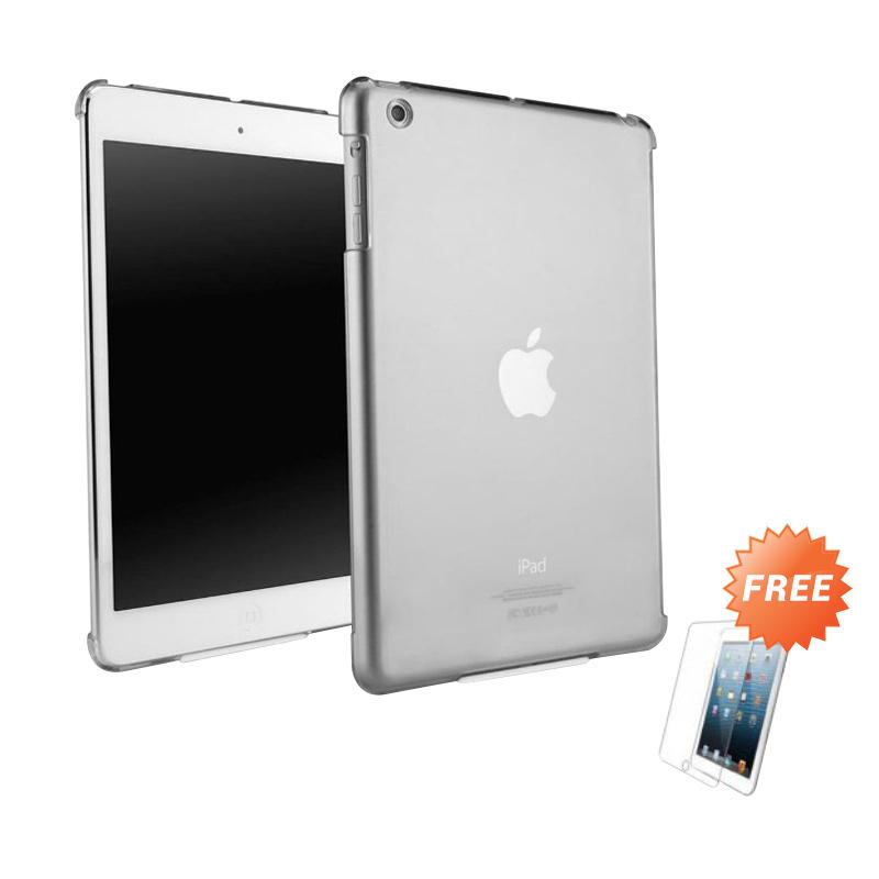 harga Case Ultra Thin Softcase Casing for Apple iPad Air - Abu-abu + Free Tempered Glass Blibli.com