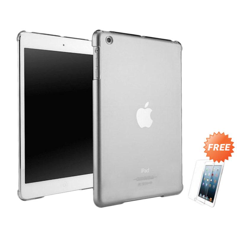harga Case Ultra Thin Softcase Casing for Apple iPad Mini 4 - Abu Abu + Free Tempered Glass Blibli.com