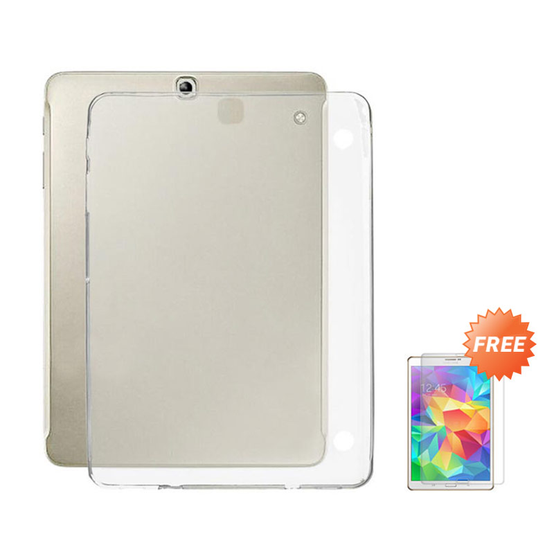 harga Case Ultra Thin Softcase Casing for Samsung Galaxy Tab 3V T110 - Clear + Free Tempered Glass Blibli.com