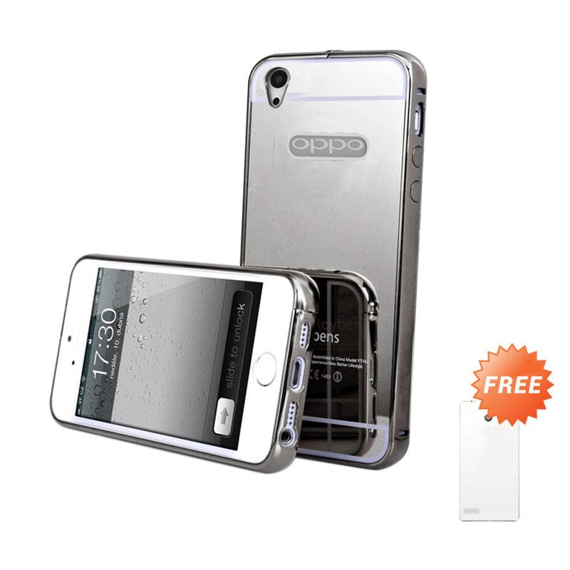 Case Mirror Bumper Casing for OPPO Mirror 5S or A51T - Black + Free Ultrathin Casing [Best Seller]