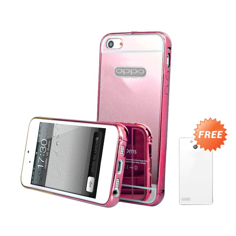 Case Mirror Bumper Casing for OPPO Neo 7 or A33 - Rose Gold + Free Ultrathin Casing [Best Seller]