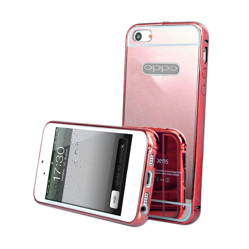 Case Mirror Bumper Casing for OPPO Neo 7 or A33 - Rose Gold [Best Seller]