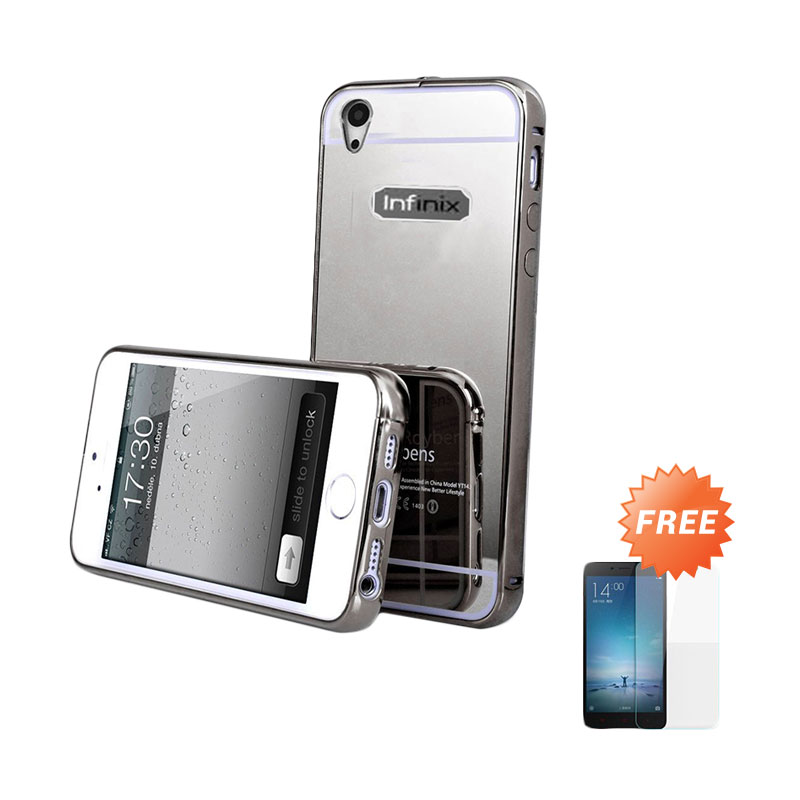 Jual Case Mirror Bumper Sliding Casing for Infinix Hot 2 X510 - Hitam +  Free Ultra c3157622a0