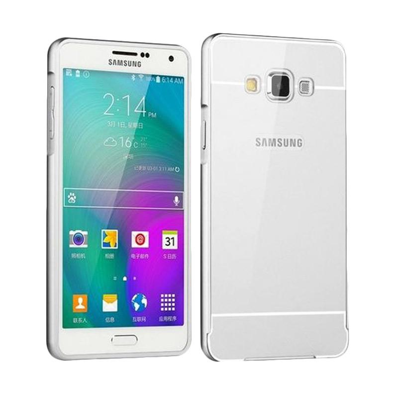 d28ec6d7443 Jual Case Bumper Metal Sliding Backcase Casing for Samsung Galaxy A3 2015 -  Silver Online - Harga & Kualitas Terjamin | Blibli.com