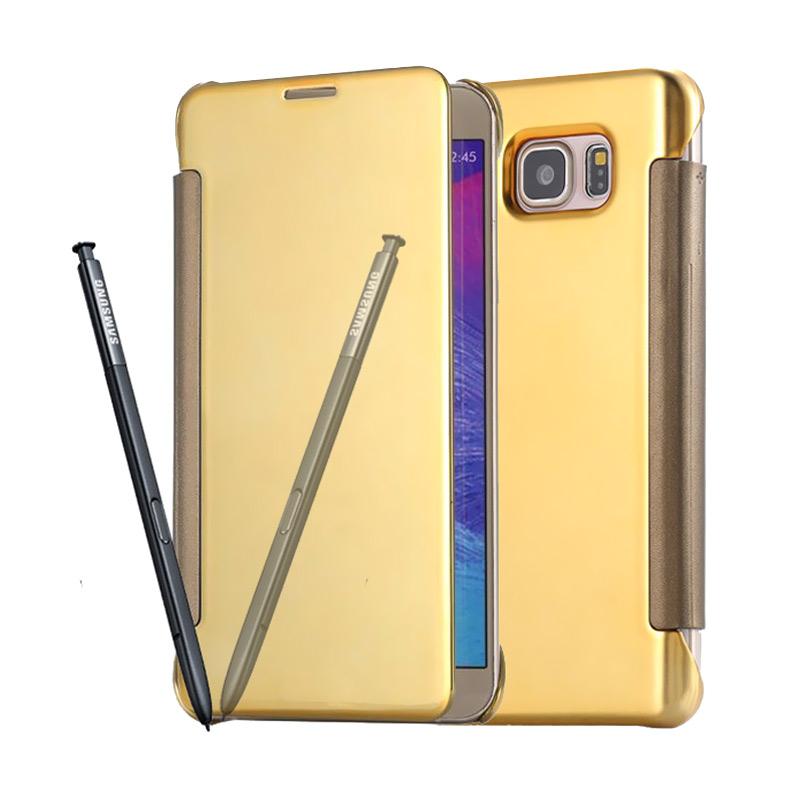 harga Case Twins Elegant Flip Mirror Casing For Samsung Galaxy Note 7 - Gold Blibli.com