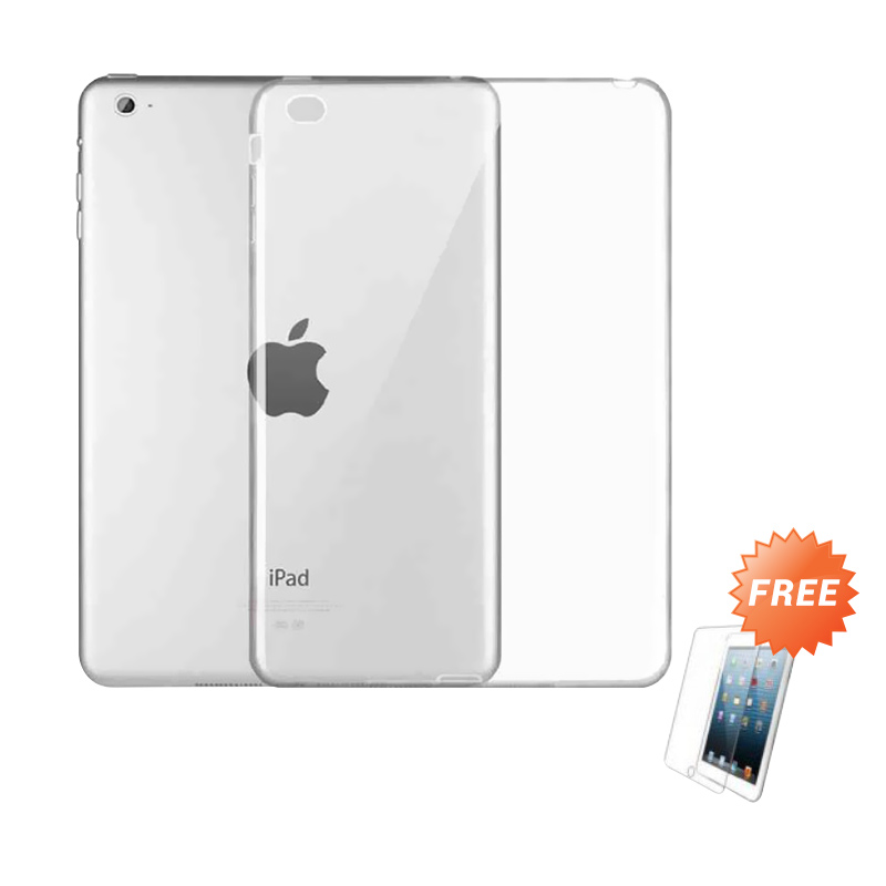 harga Case Ultrathin Softcase Casing for Apple iPad Air 2 - Clear + Free Tempered Glass Blibli.com