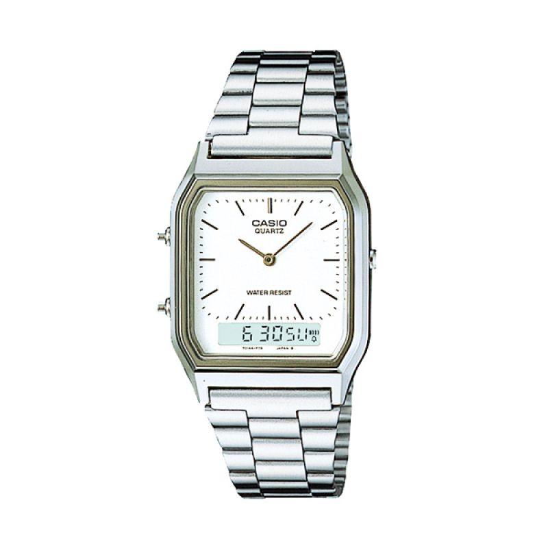 CASIO AQ-230GA-7DMQ Casual Silver Jam Tangan Wanita