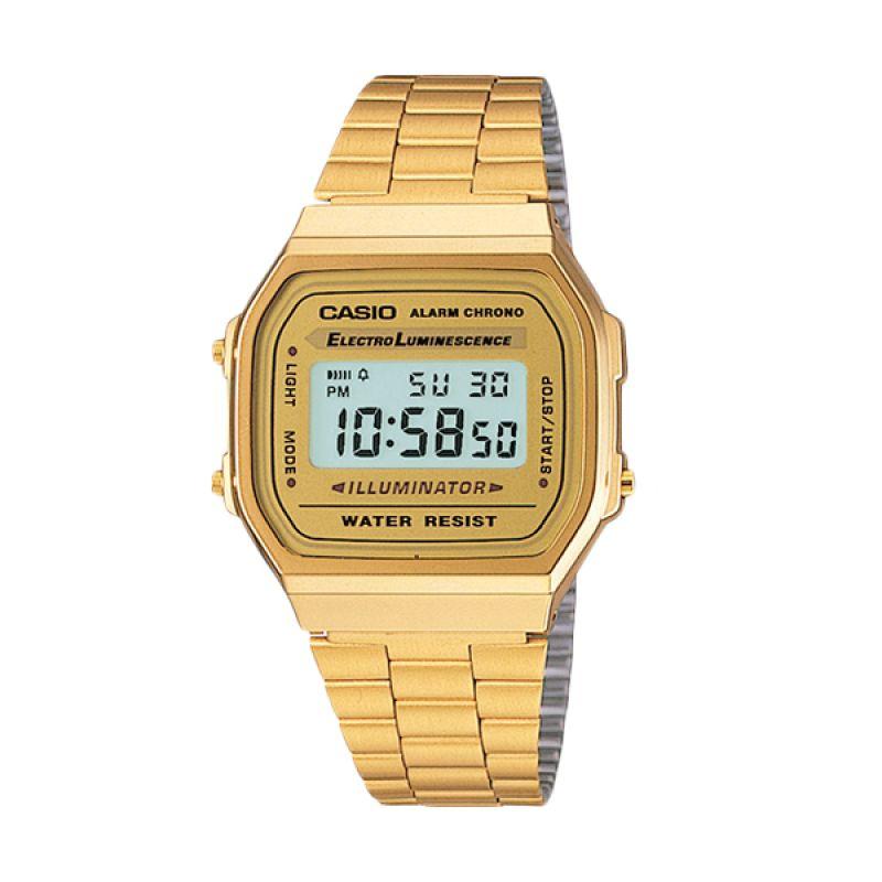 Casio A168WG-9W Gold Jam Tangan Wanita