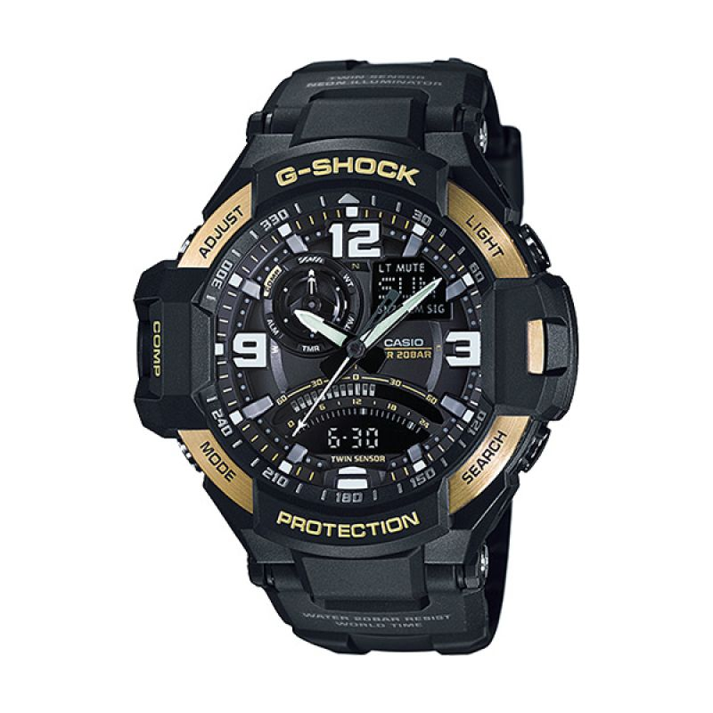 CASIO Aviator GA-1000-9G Gold Limited Edition Jam Tangan Pria