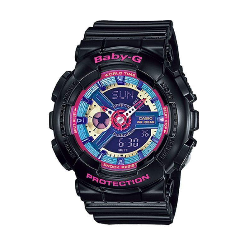 Casio BABY-G BA-112-1A Black Pink Blue Jam Tangan Wanita