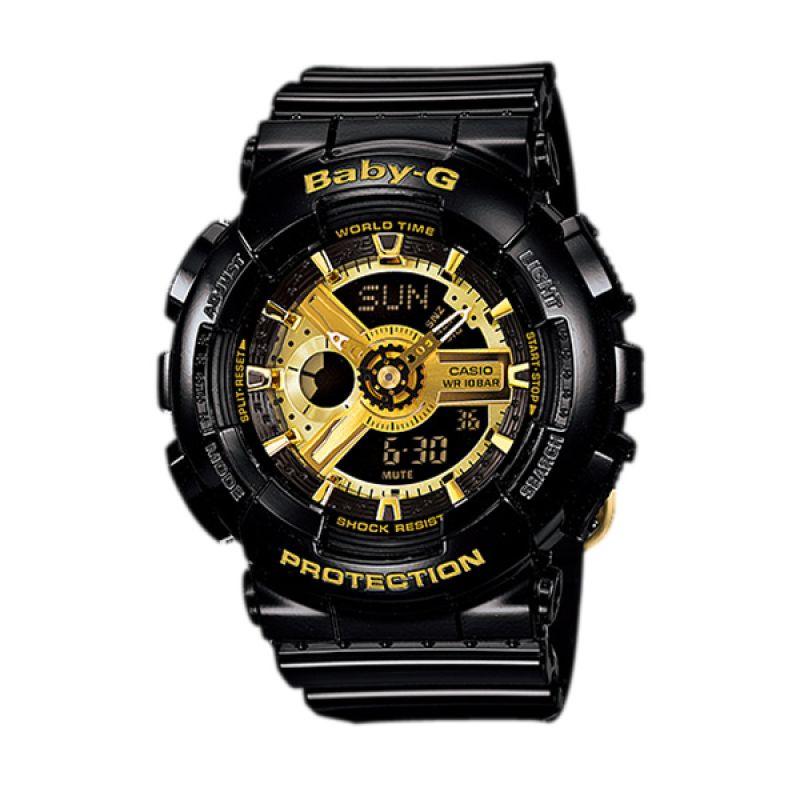 Casio BABY-G BA-110-1A Black Gold Jam Tangan Wanita