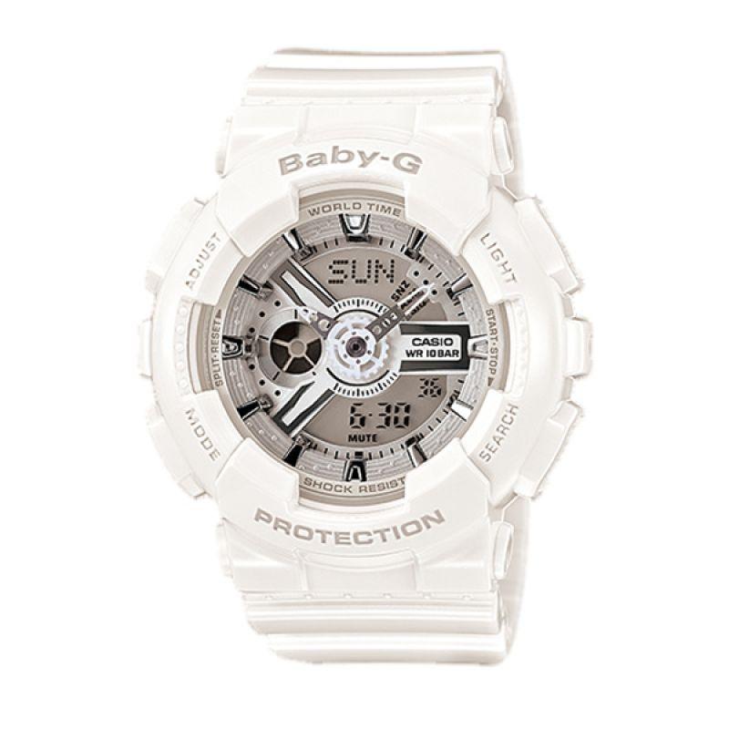 Casio BABY-G BA-110-7A3 White Silver Jam Tangan Wanita