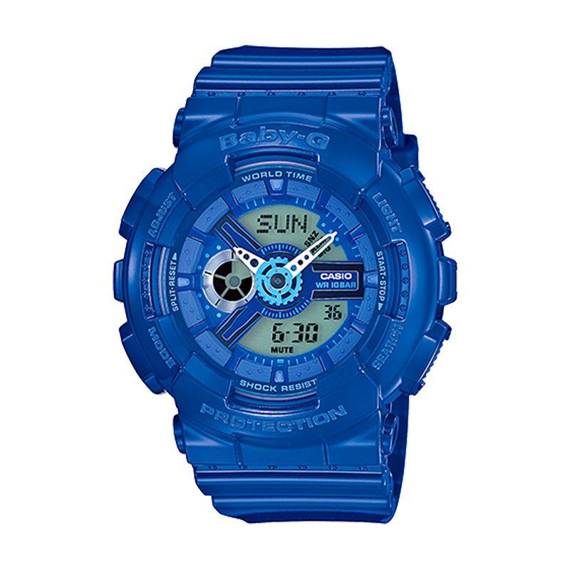 Casio Baby-G BA-110BC-2A Blue Jam Tangan Wanita
