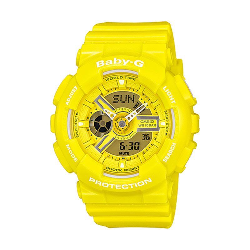 Casio Baby-G BA-110BC-9A Neon Yellow Jam Tangan Wanita