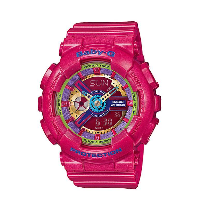 Casio BABY-G BA-112-4A Metallic Pink Jam Tangan Wanita