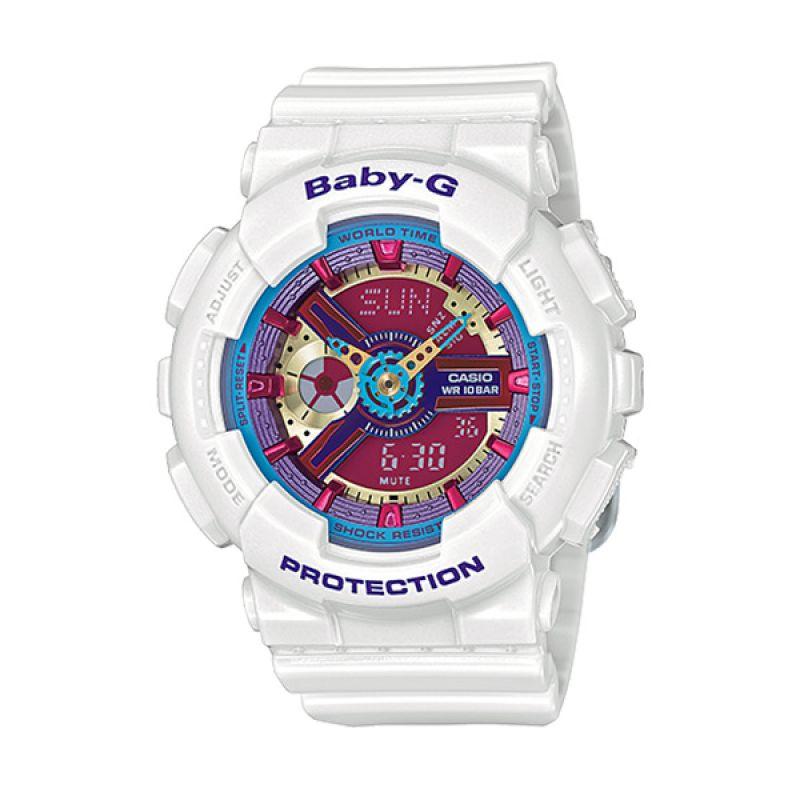 Casio BABY-G BA-112-7A White Pink Blue Jam Tangan Wanita