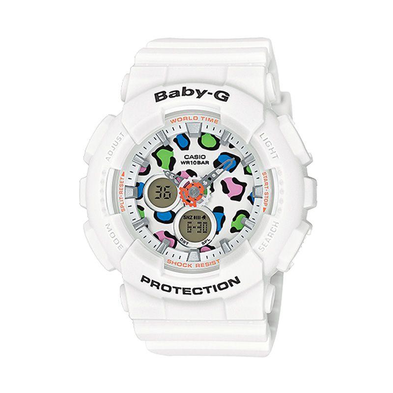 Casio Baby-G BA-120LP-7A1 Leopard White Jam Tangan Wanita