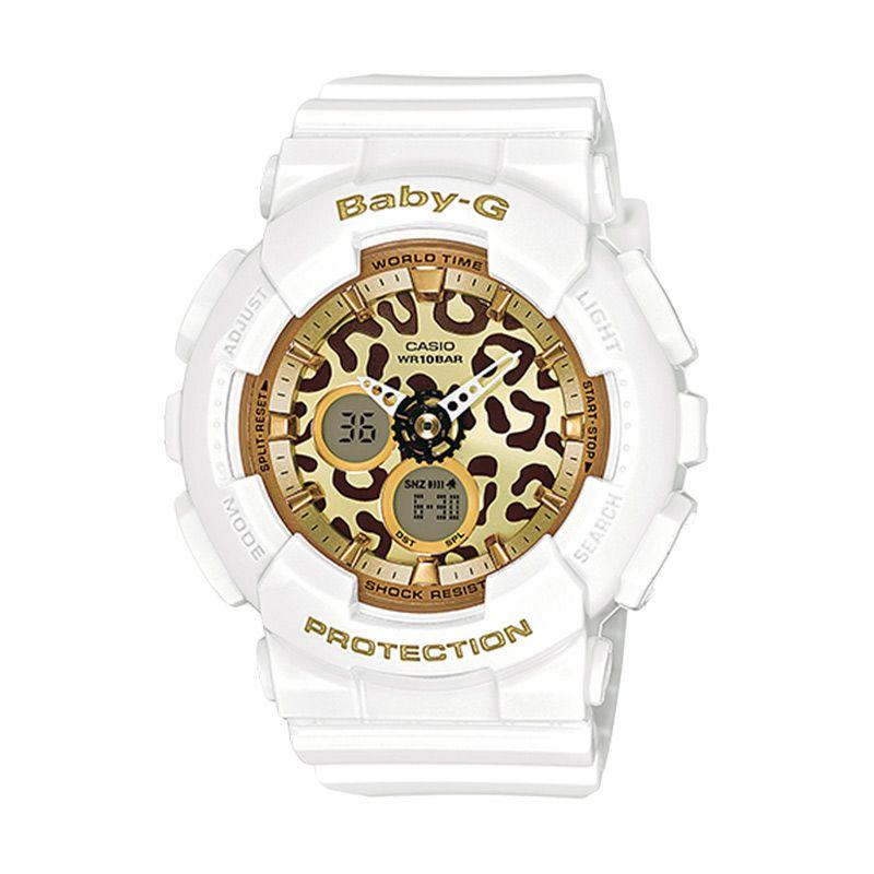 Casio Baby-G BA-120LP-7A2 Leopard White Jam Tangan Wanita