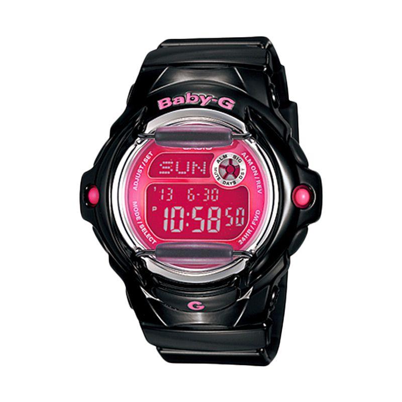 CASIO Baby-G BG-169R-1B Sports Glossy Black Pink Jam Tangan Wanita