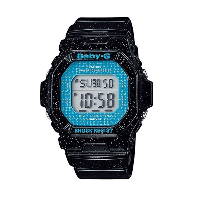 Casio Baby-G BG-5600GL-1 Black Blue Jam Tangan Wanita