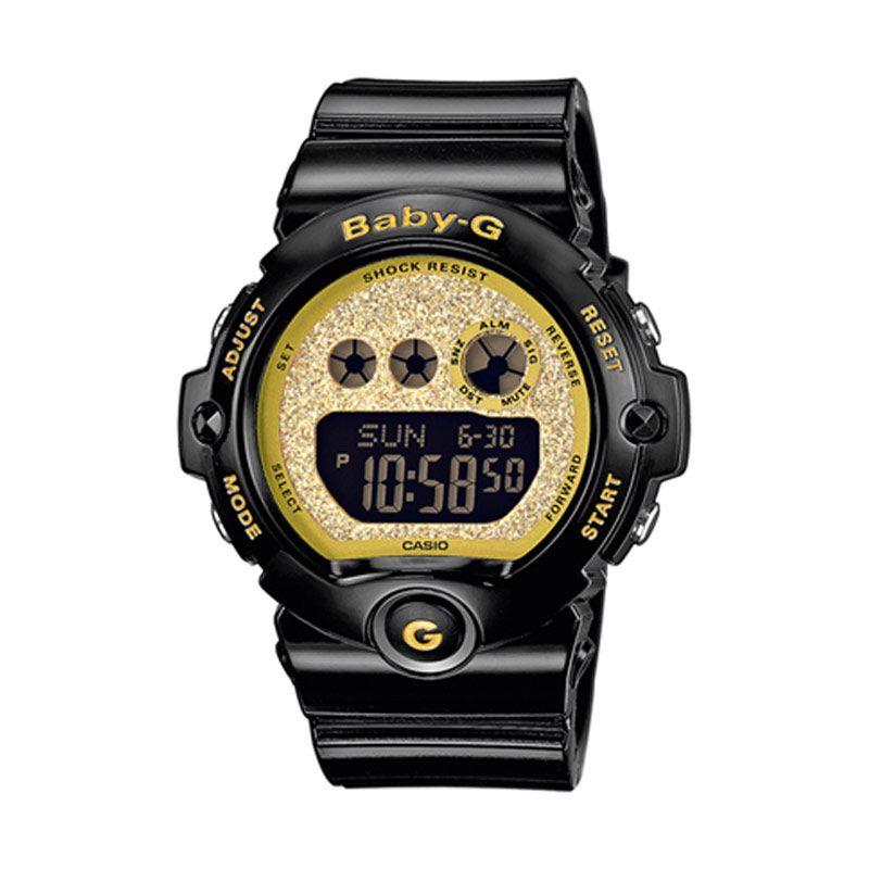 CASIO Baby-G BG-6901SG-1DR Black Gold Glitter Dial Jam Tangan Wanita
