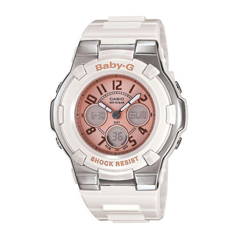 Casio BABY-G BGA-110-7B2 White Silver Pink Jam Tangan Wanita