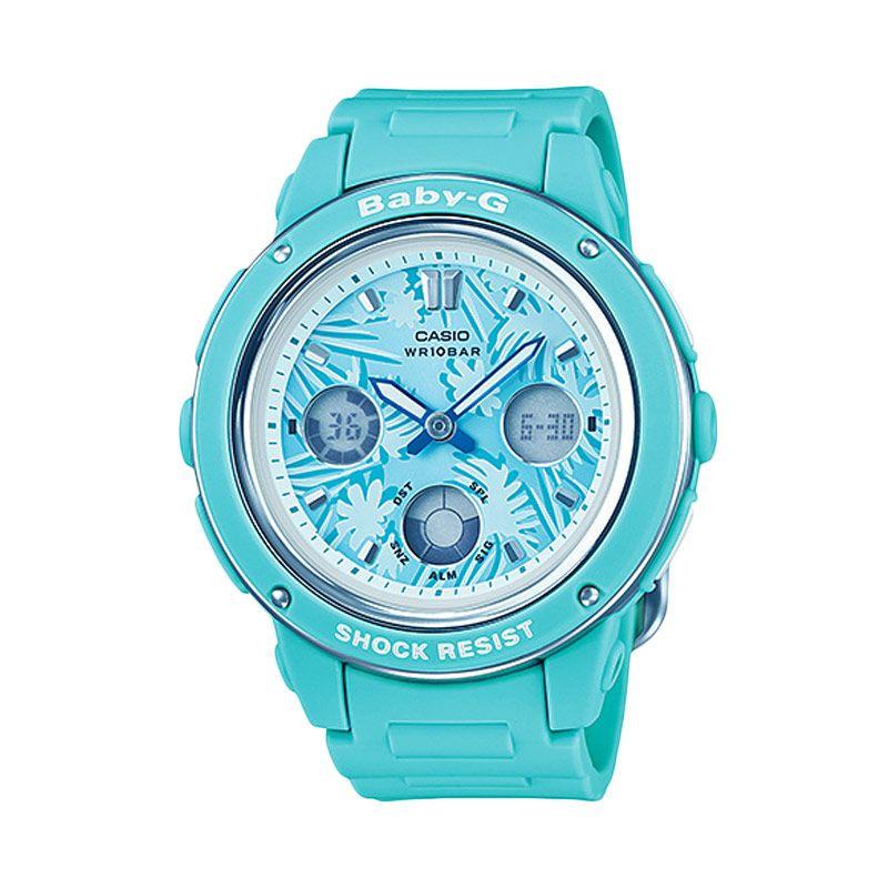 Casio Baby-G BGA-150F-3ADR Tropical Soft Blue Jam Tangan Wanita