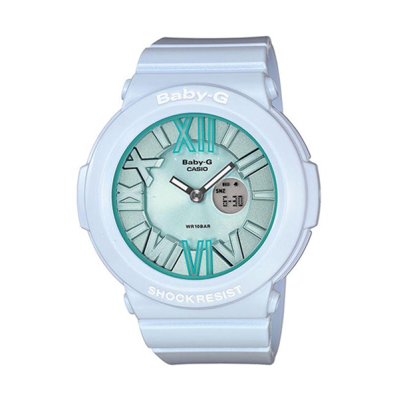 CASIO BABY-G BGA-161-2B White Blue Jam Tangan Wanita