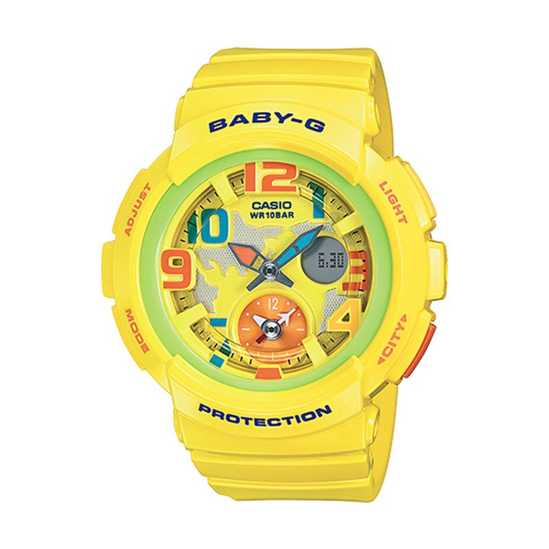 Casio Baby-G BGA-190-9B Beach Traveller Yellow Jam Tangan Wanita