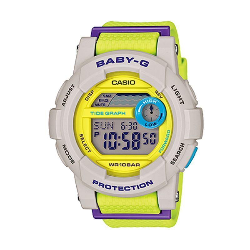 Casio Baby-G BGD-180-3DR G-LIDE Neon Yellow White Jam Tangan Wanita