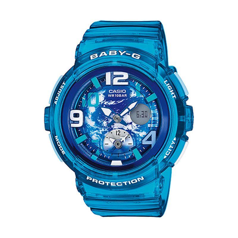 Casio Baby-G Colourful BGA-190GL-2B Blue Jam Tangan Wanita