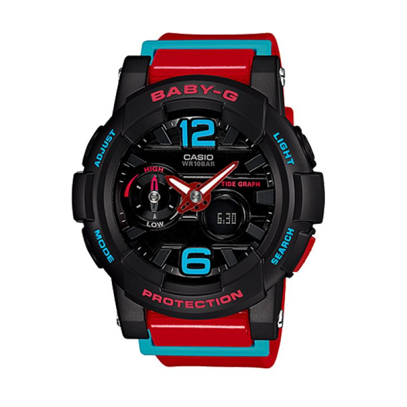 Casio BABY-G G-LIDE BGA-180-4B Black Red Blue Jam Tangan Wanita
