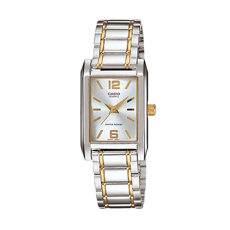 CASIO Duotone LTP-1235SG-7A Silver Gold Jam Tangan Wanita