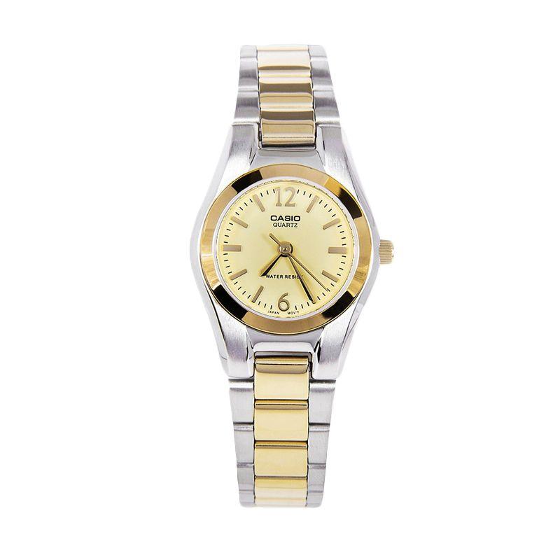 CASIO Duotone LTP-1253SG-9A Silver Gold Jam Tangan Wanita