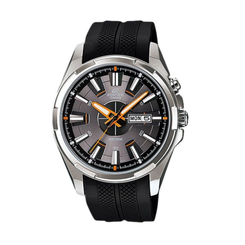 CASIO Edifice EFR-102-1A5 Silver Black Jam Tangan Pria