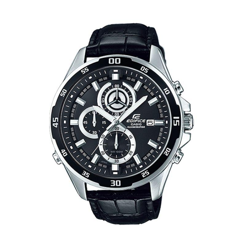 Casio Edifice EFR-547L-1A Illuminator Silver Black Jam Tangan Pria