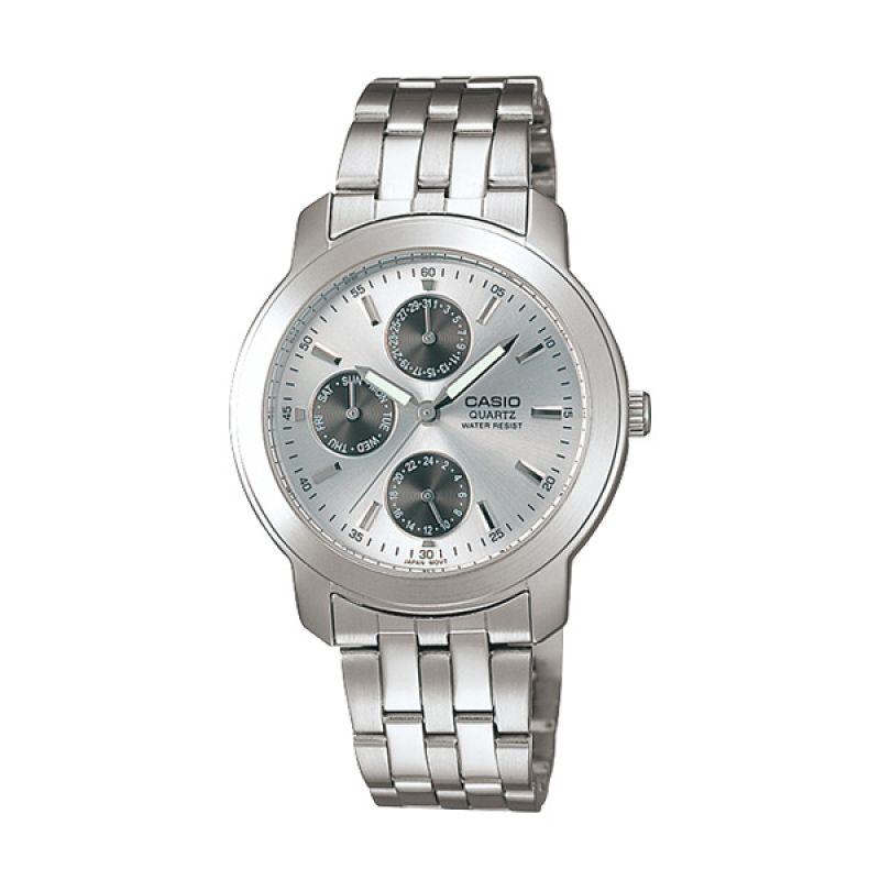 Casio Enticer MTP-1192A-7A Silver White Jam Tangan Pria