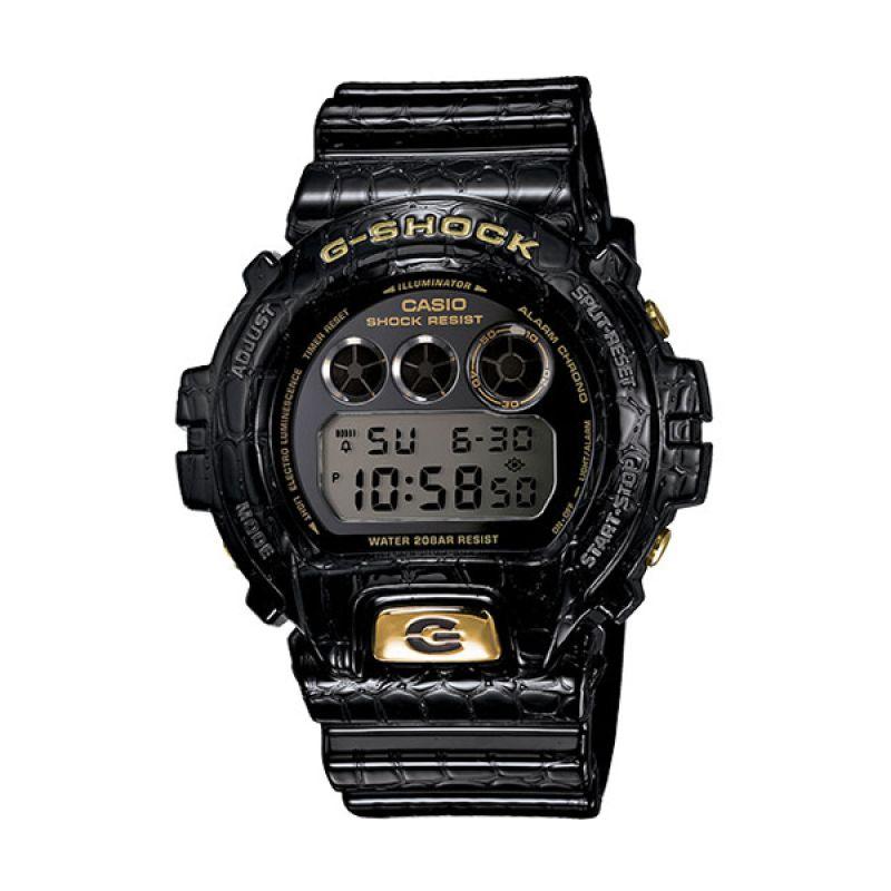 CASIO G-SHOCK Crocodile DW-6900CR-1 Black Gold Jam Tangan Pria