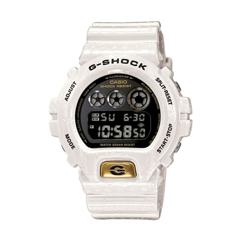 CASIO G-SHOCK DW-6900CR-7 White Crocodile Jam Tangan Pria