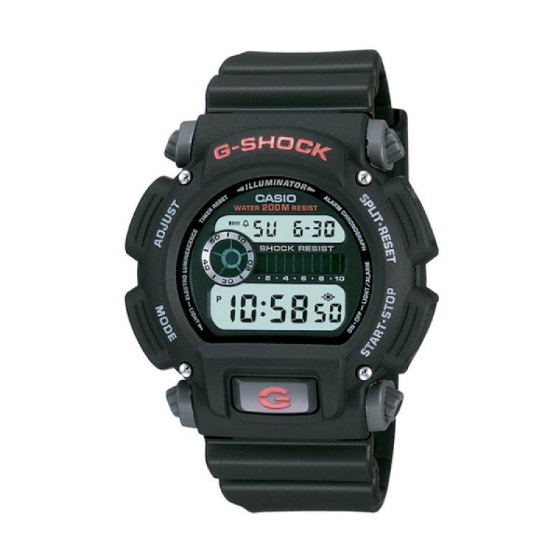CASIO G-SHOCK DW-9052-1VDR Black Jam Tangan Pria