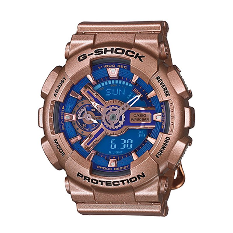CASIO G-SHOCK Femme GMA-S110GD-2A Rose Gold Blue Jam Tangan Wanita
