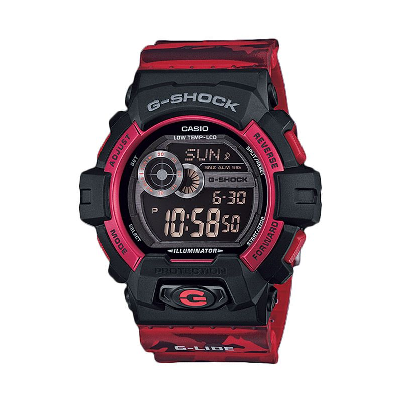 Casio G-SHOCK G-Shock GLS-8900CM-4DR Red Camo Jam Tangan Pria